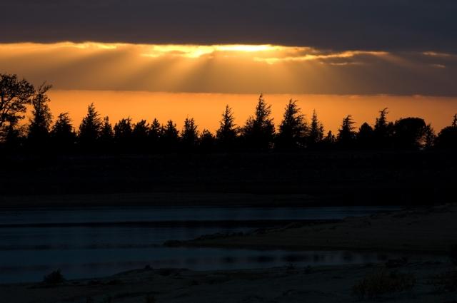 coucher de soleil lac st fé