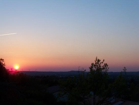 coucher de soleil vue du gite
