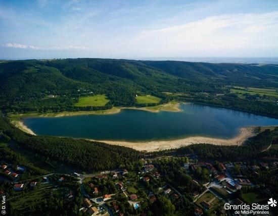 le lac vue du ciel
