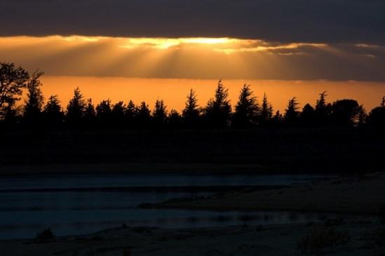 mini-coucher de soleil lac st fé